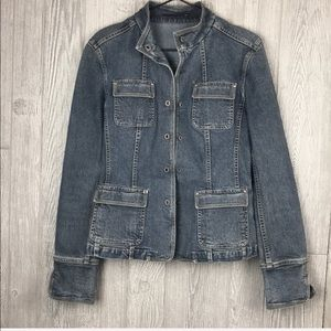 Elie Tahari Denim Jacket Sz Med 0261